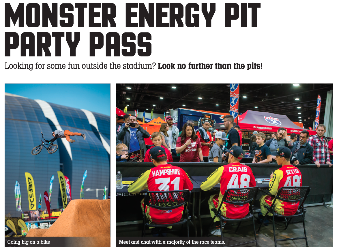Monster Energy Supercross Pit Party Pass Supercross Live