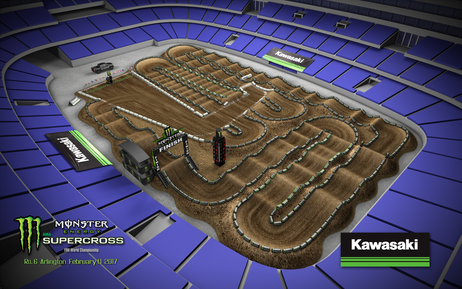 Arlington Sx Seating Relation To Track Map Moto Related