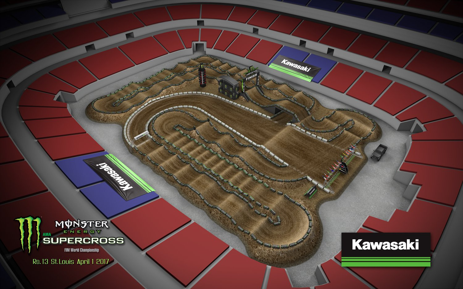 AMA Supercross Live Streaming From Norway Scandinavia Europe - Us bank stadium supercross track map