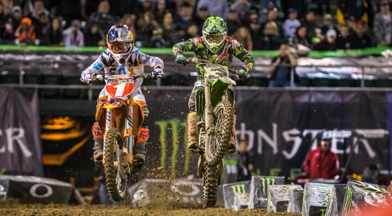 Dungey chalks up a second to race winner Eli Tomac in Oakland. Dungey led 16 laps.