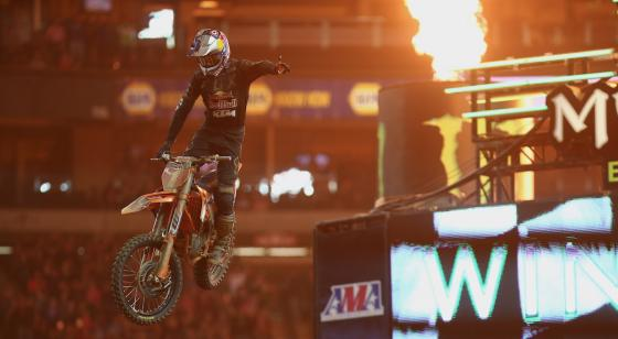 Dungey leads every lap to win at the Georgia Dome in the final Supercross event at the stadium.